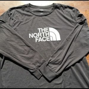 North Face Logo Long Sleeve T
